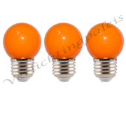 LED kogellamp - 1W E27 Oranje
