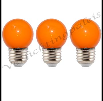 LED kogellamp - 1W E27 Oranje