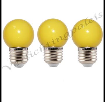 LED kogellamp - 1W E27 Geel