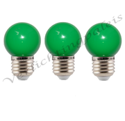 LED kogellamp - 1W E27 Groen