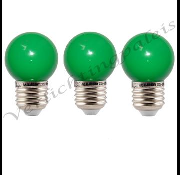 LED kogellamp - 1W E27 Groen