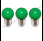 LED kogellamp - 1W E27 Oranje Groen