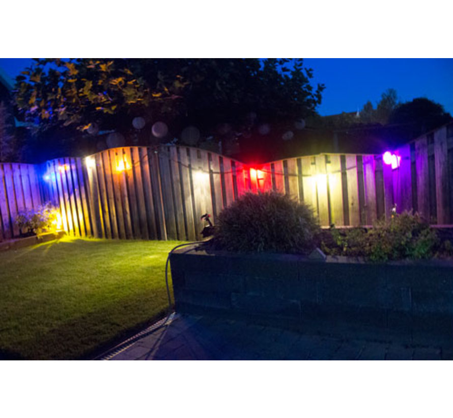 LED kogellamp - 1W E27 Oranje Blauw - Dimbaar