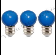 LED kogellamp - 1W E27 Blauw