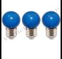 LED kogellamp - 1W E27 Oranje Blauw
