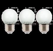 LED kogellamp 2W - witte kap - E27 zeer warm wit - Dimbaar