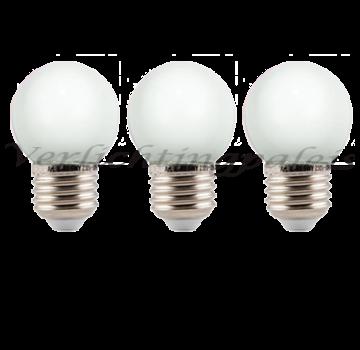 LED kogellamp 2W - witte kap - E27 warm wit - Dimbaar
