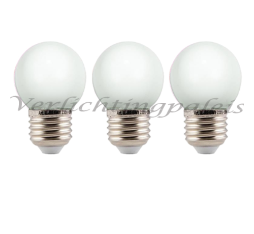 LED kogellamp - 2W - witte kap - E27 2650K