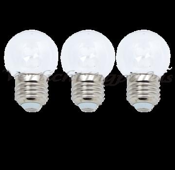 LED kogellamp 1W - witte kap - E27 koud wit