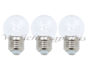 LED kogellamp - 1W - witte kap - E27 6600K