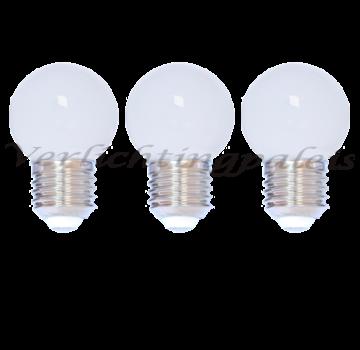 LED kogellamp 2W - witte kap - E27 warm wit