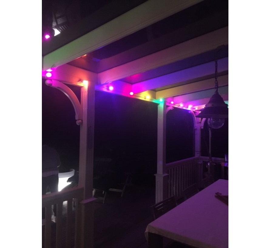 Set van 20 LED lampen in 5 kleuren