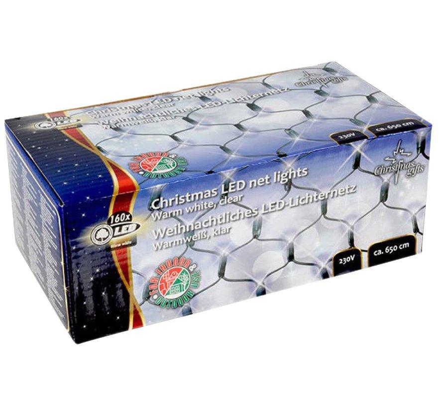 Kerstverlichting: Net met 160 LED Warm wit