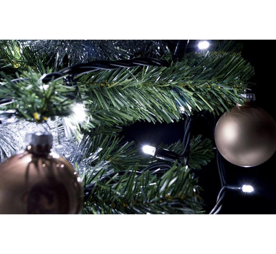 Kerstverlichting: 10 meter - 100 lampen - koud wit zonder aansluitsnoer