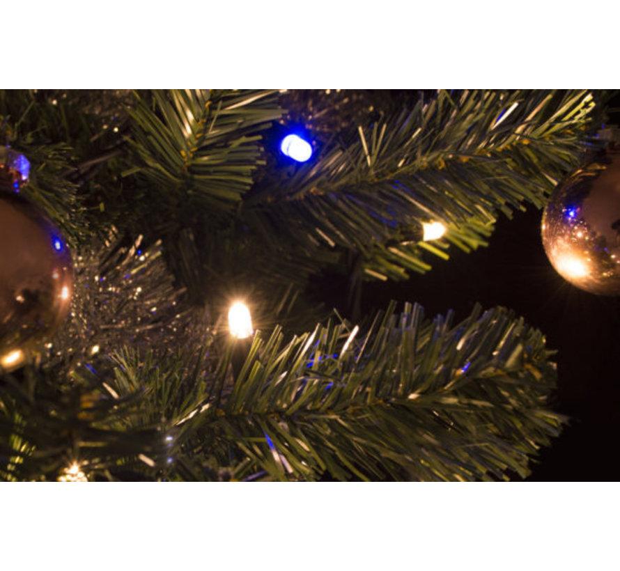 Kerstverlichting: 10 meter - 100 lampen - Warm wit met fonkel incl. aansluitsnoer