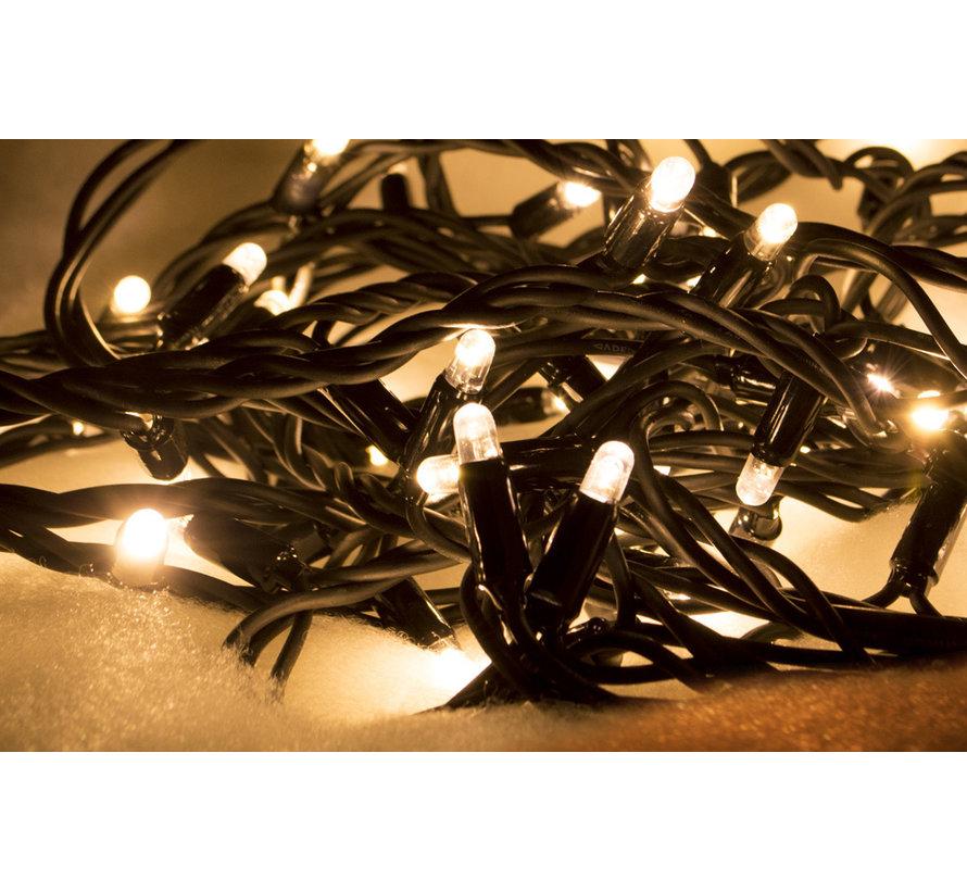 Kerstverlichting: 10 meter met 100 Led lampen - Warm wit zonder aansluitsnoer