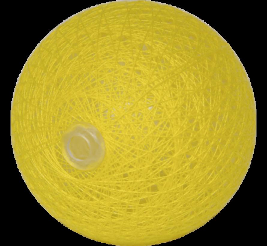 Cotton ball Geel 6cm