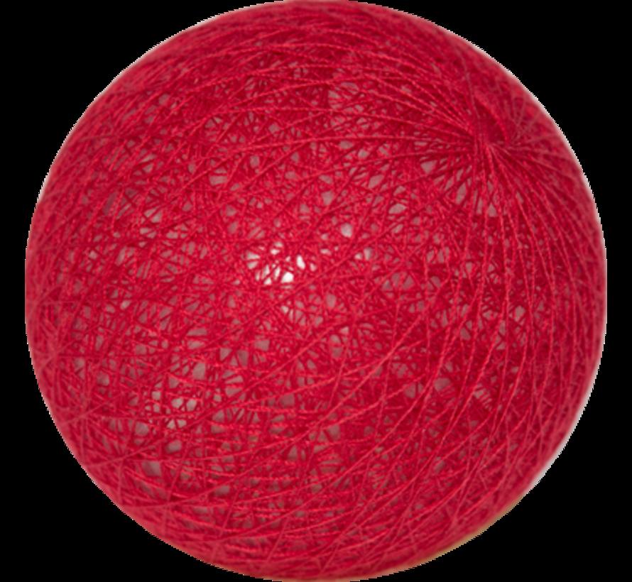 Cotton ball Rood- 6cm
