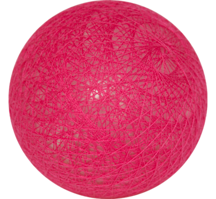 Cotton ball Fel roze- 6cm