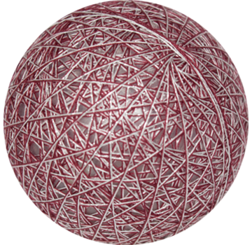 Cotton ball  Zilver-Rood