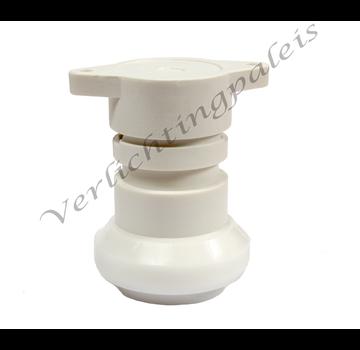 IP44 waterdichte prikfitting - E27 wit per 5 stuks