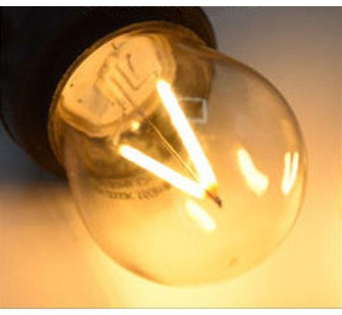 Dimbare LED Filament lamp 3W - transparant - 2000K