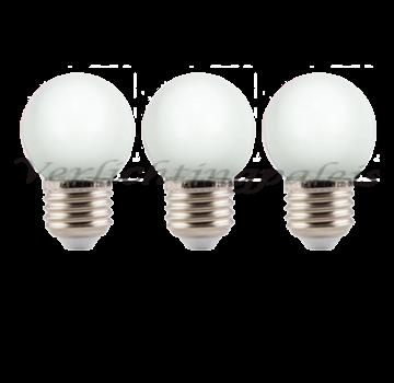 LED kogellamp 1W - witte kap - E27 warm wit