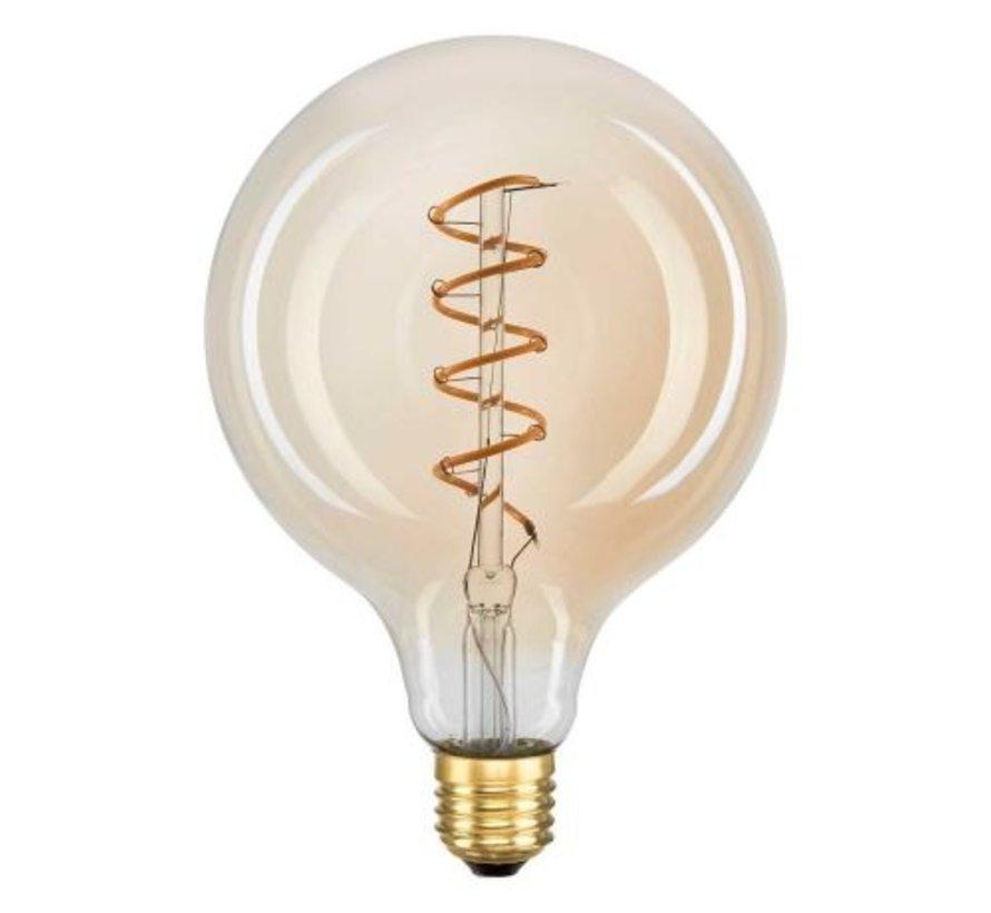 Globe 125mm Filament Sipraal LED 2W E27 240V 2200 Goud
