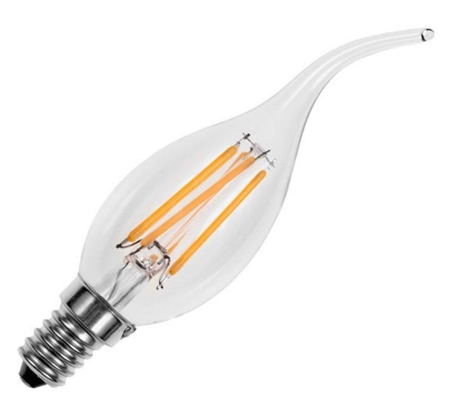 LED lichtbron kaars 2W helder E14  met tip