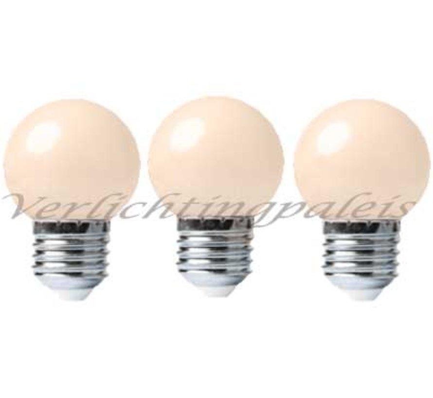 LED kogellamp - 1W - matte kap - E27 2000K