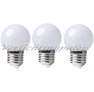 LED kogellamp 1W - matte kap - E27 zeer warm wit 2000K