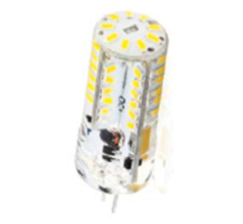 Verlichtingpaleis 2,3W G4 Led steeklamp met siliconen omhuld 12V AC/DC