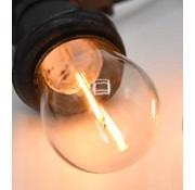 LED Filament lamp 1W - transparant - 2200K - Dimbaar