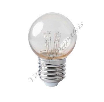 kogellamp-led op stokjes - 0,7W E27 - extra warm wit 2000K