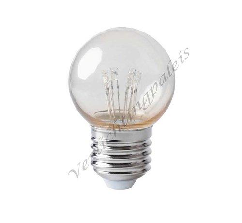 kogellamp - 0,7W E27 - extra warm wit 2000K