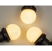 Amlux prikkabel set  met warm  witte LED lampen - melkwitte bol
