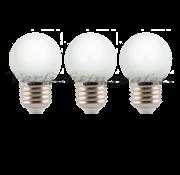 LED kogellamp 1W - witte kap - E27 zeer warm wit 2000K