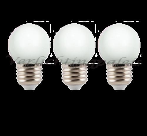 LED kogellamp - 1W - Witte kap - E27 2000K