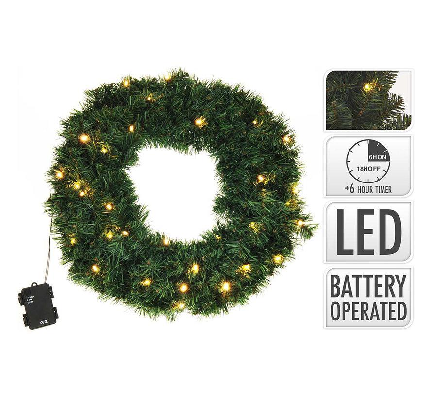 kerstverlichting - kerstkrans 50cm 25 LED