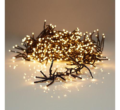 S.I.A Kerstverlichting: clusterverlichting 7,20 M - 576 warm witte LED's