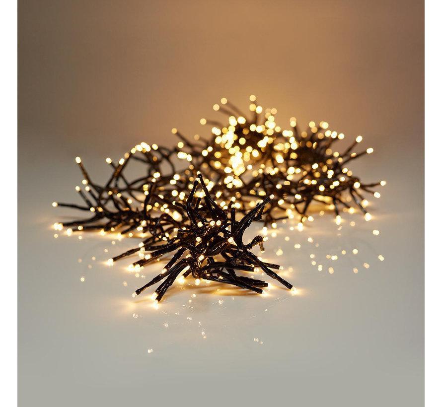 Kerstverlichting: clusterverlichting 7,20 M - 576 warm witte LED's