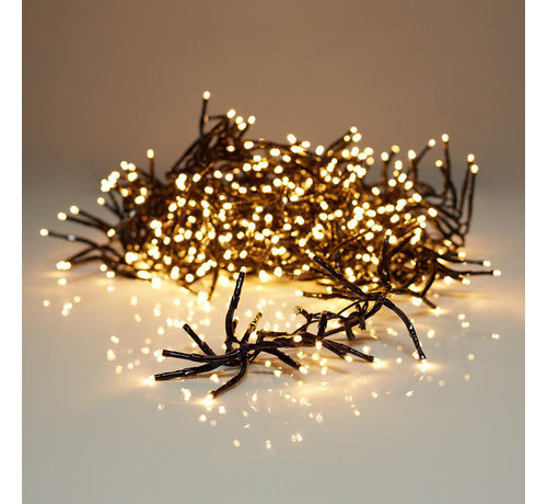 S.I.A Kerstverlichting: clusterverlichting 8.60 M - 768 warm witte LED's