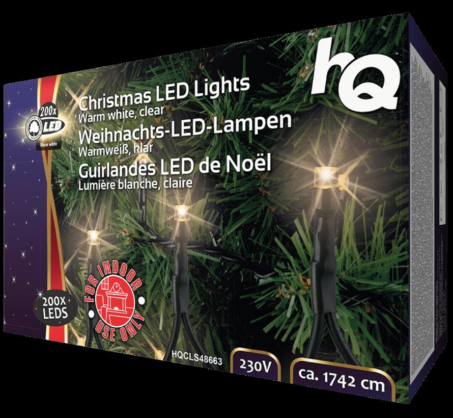 HQ HQCLS48663 Kerstverlichting 200 LEDs 3W 17,42M Warm Wit Binnen