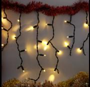 Kerstverlichting: IJspegel - 3 meter 114 LED lampjes- warm wit