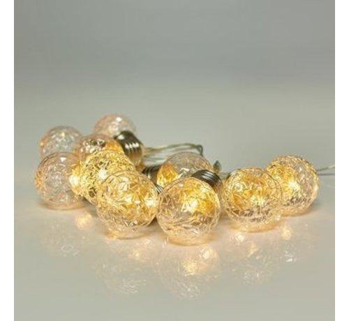 S.I.A Kerstverlichting: 180 cm met 10 decoratieve led bolletjes