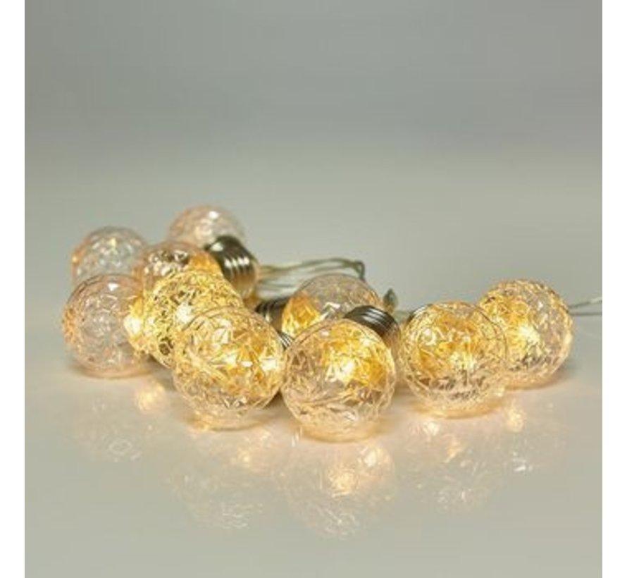 Kerstverlichting: 180 cm met 10 decoratieve led bolletjes