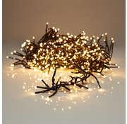 S.I.A Kerstverlichting: clusterverlichting 5.80 M - 384 warm witte LED's -