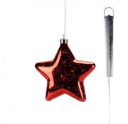 "Glazen LED ster rood - 18.5 cm ""Lucy"""