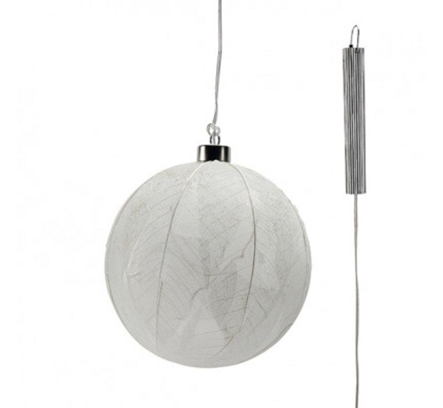 """Glazen LED BOL - 15 cm """"Leaf""""2"""