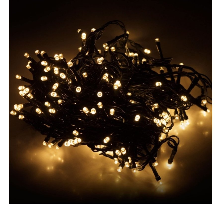 Kerstverlichting: ED-verlichting 320 LED's 24 meter warm wit